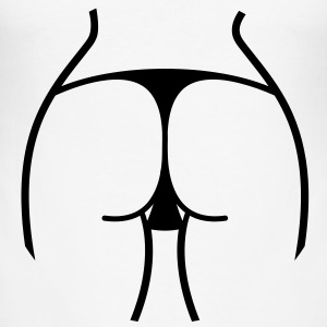 Woman Ass Butt Thong (1c)++2012 T-Shirts - Men's Slim Fit T-Shirt