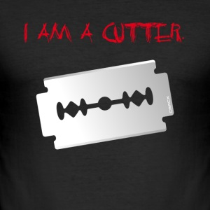 CRACX I am a cutter T-Shirts - Männer Slim Fit T-Shirt