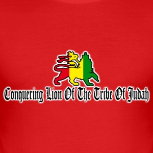 conquering lion of the tribe of judah T-Shirts - Men's Slim Fit T-Shirt