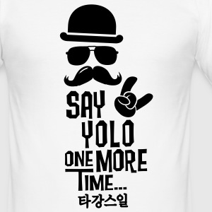 Like a say you only live once boss moustache Camisetas - Camiseta ajustada hombre
