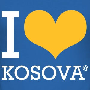 I LOVE KOSOVA - Männer Slim Fit T-Shirt