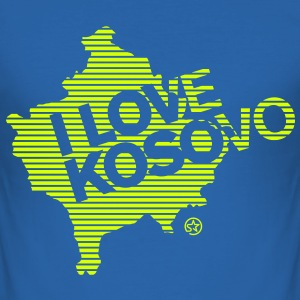 I LOVE KOSOVO - Männer Slim Fit T-Shirt