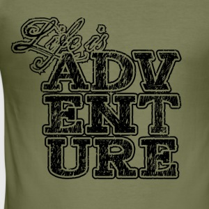 Life is Adventure ★ Spiritspread T-Shirts - Men's Slim Fit T-Shirt