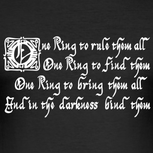One Ring to rule them all T-Shirts - Men's Slim Fit T-Shirt
