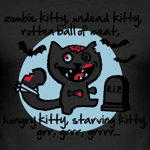 Zombie Kitty T-Shirts - Men's Slim Fit T-Shirt