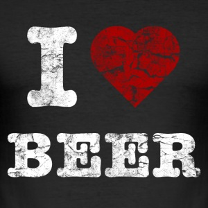 i_love_beer_vintage_hell T-shirts - Slim Fit T-shirt herr