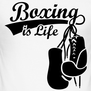 Boksning er Livet. Boxing Gloves bokser T-shirts - Herre Slim Fit T-Shirt
