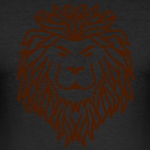 Lion - Tribal T-shirts - Slim Fit T-shirt herr