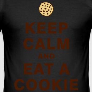 KEEP CALM AND EAT A COOKIE T-Shirts - Männer Slim Fit T-Shirt