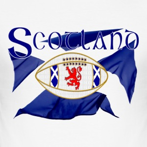 Scotland rugby lion oval ball T-Shirts - Men's Slim Fit T-Shirt