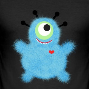 monster with heart T-Shirts - Men's Slim Fit T-Shirt