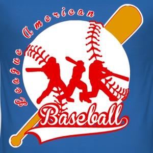 baseball league american T-Shirts - Men's Slim Fit T-Shirt