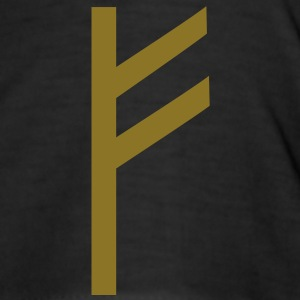Rune Fehu - luck, prosperity & personal power T-shirts - Herre Slim Fit T-Shirt