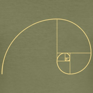 Golden Spiral, Golden Ratio, Phi, Fibonacci T-Shirts - Men's Slim Fit T-Shirt