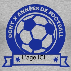 ajouter age ans anniversaire football Tee shirts - Tee shirt près du corps Homme