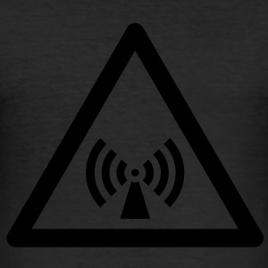 Hazard Symbol - Non-Ionizing Radiation T-Shirts - Men's Slim Fit T-Shirt