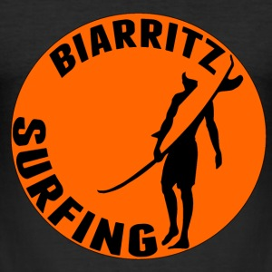 Biarritz Surfing2 Tee shirts - Tee shirt près du corps Homme