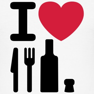 I love a NY - a knife, a fork, a bottle and a cork T-shirts - slim fit T-shirt
