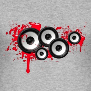 Music in the blood, speakers, sound system, audio T-shirts - slim fit T-shirt