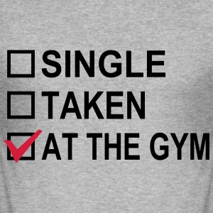Single, Taken, At The Gym! T-shirts - Slim Fit T-shirt herr