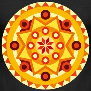 Mandala oranje T-shirts - slim fit T-shirt