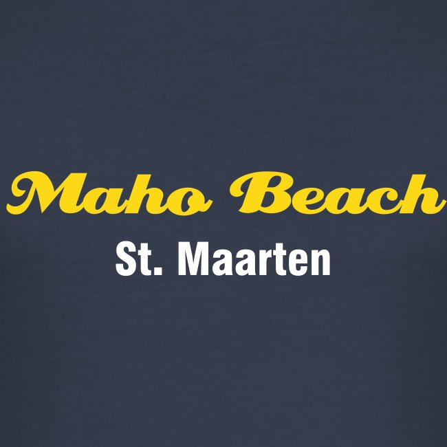 """Maho Beach"" T-Shirt, dark navy"