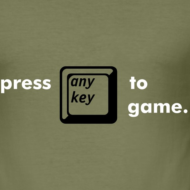 """press """"any key"""" to game."""
