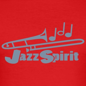 Dark orange jazz spirit T-Shirts - Men's Slim Fit T-Shirt