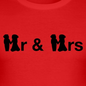 Mörkorange Mr & Mrs T-shirt - Slim Fit T-shirt herr