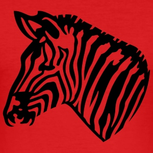 Mørk orange zebra T-skjorte - Slim Fit T-skjorte for menn
