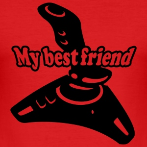Dark orange best friends T-Shirts - Men's Slim Fit T-Shirt