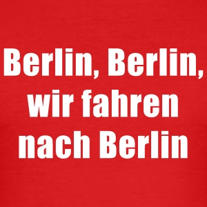 Wine Berlin T-Shirt - Männer Slim Fit T-Shirt