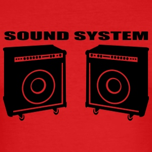 Dark orange Soundsystem T-Shirt - Männer Slim Fit T-Shirt