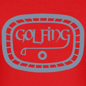 Wine Golfing T-Shirts - Men's Slim Fit T-Shirt