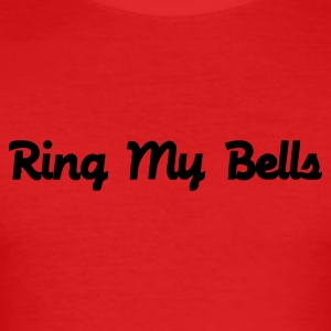 Dark orange Ring My Bells T-Shirts - Men's Slim Fit T-Shirt