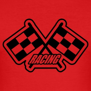Dark orange racing T-Shirts - Men's Slim Fit T-Shirt