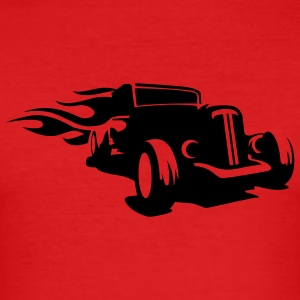 Dark orange Hotrod T-Shirt - Männer Slim Fit T-Shirt