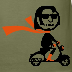 Olive Scooter Mod T-Shirt - Männer Slim Fit T-Shirt