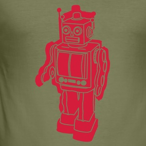 Camel Robo-retro T-Shirts - Men's Slim Fit T-Shirt