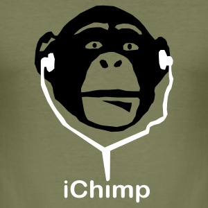 Olive Ape-el i-pod T-Shirts - Men's Slim Fit T-Shirt