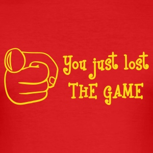 Wine Lost The Game Mono T-Shirts - Men's Slim Fit T-Shirt