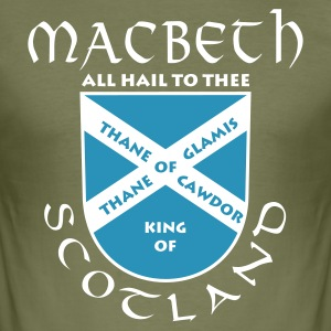 Braun Scotland Macbeth T-Shirt - Männer Slim Fit T-Shirt