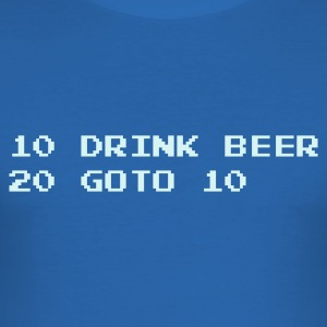 Royal blue Drink Beer T-Shirts - Men's Slim Fit T-Shirt