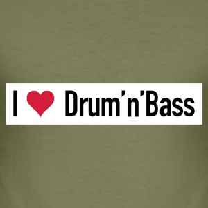 I love Drum'n'Bass Original T-Shirt - Männer Slim Fit T-Shirt