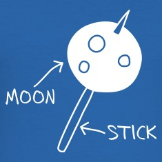 Royal blue Moon on a Stick (dark background) T-Shirts