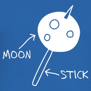 Royal blue Moon on a Stick (dark background) T-Shirts - Men's Slim Fit T-Shirt