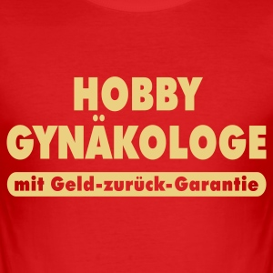 Wine Hobby Gynäkologe T-Shirt - Männer Slim Fit T-Shirt