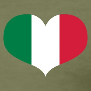 Oliven Love Italy T-Shirts - Herre Slim Fit T-Shirt