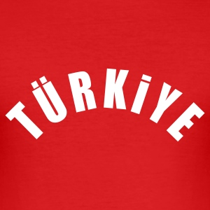 Rot tuerkiye T-Shirt - Männer Slim Fit T-Shirt