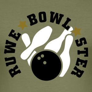 Olijfgroen Ruwe*Bowl*Ster T-Shirts - slim fit T-shirt